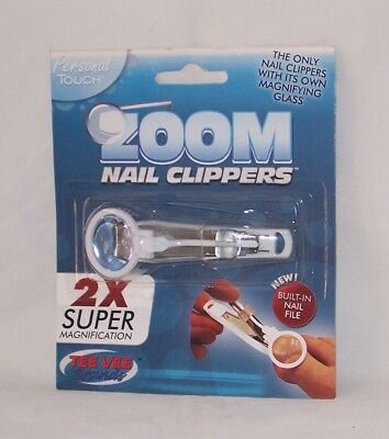 Handy Zoom 2X Magnifying Stainless Steel Nail Clippers With Nail File Free Ship