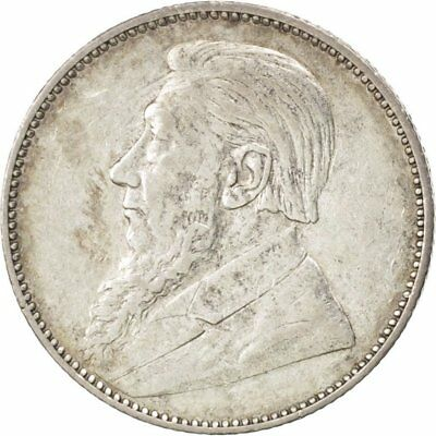 [#43788] SOUTH AFRICA, Shilling, 1897, KM #5, AU(50-53), Silver, 5.63