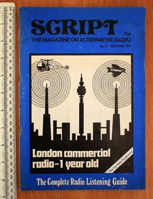 SCRIPT The Magazine on Alternative Radio No.14 November 1974 London Commercial