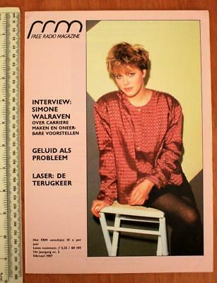FRM FREE RADIO Magazine February 1987 DUTCH LANGUAGE