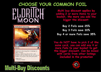 Eldritch Moon EMN Choose your common foil - New - Buy 2 or more save 25%