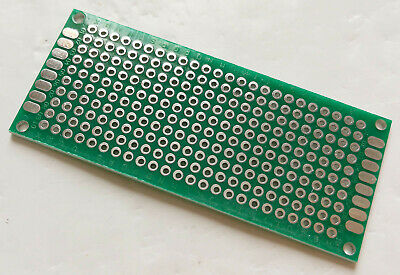 1PC DOUBLE SIDED perf board PCB - Through plated holes DIY Breadboard 3x7cm