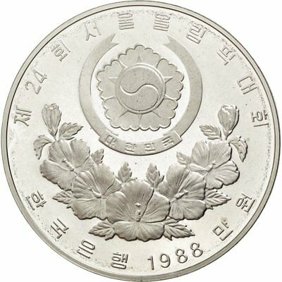 [#59390] KOREA-SOUTH, 10000 Won, 1988, KM #75, MS(65-70), Silver, 40, 33.62