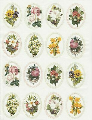 Rice Paper for Decoupage Scrapbook Craft Sheet Flowers in Frames