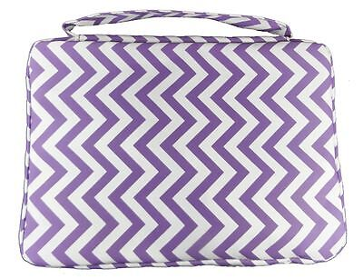 """2"""" Deep PURPLE BIBLE COVER Protective Holy Book Tote Pocket Zipper Carry Case"""