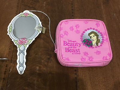 Disney's Beauty and the Beast zipper pouch bag vintage 1990's new