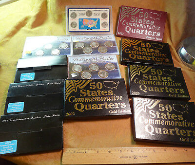 Mixed Lot Of State & National Park Quarter 5-Coin Sets Clad - Free S&H USA