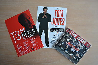 Tom Jones Reload CD + London Wembley Arena Show 2000 & UK Tour 2009 A5 Flyers
