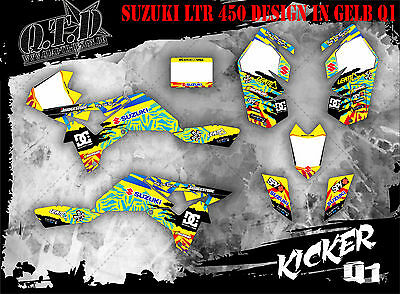 Scrub Dekor Kit Atv Suzuki Ltz 400 2009-2015 Graphic Kit Kicker B