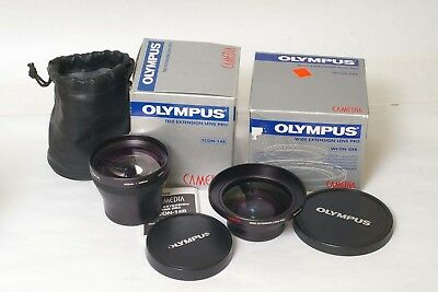 F83013~ Olympus Wide & Tele Extension Lens Pro WCON-08B & TCON-14B