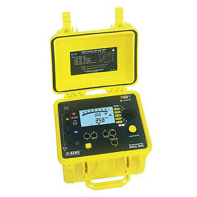 AEMC 5050 Megohmmeter (Digital, Analog Bargraph, Backlight, Alarm, Timer)