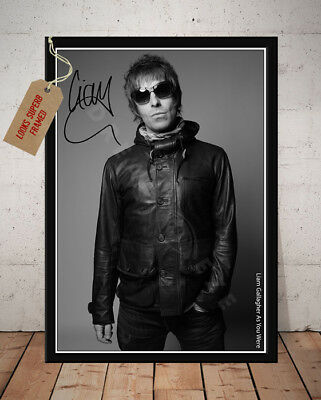 LIAM GALLAGHER SIGNED Photo Print AS YOU WERE 2017 Free Postage