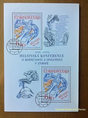 EBS Czechoslovakia 1976 European Security Cooperation Conference Block 33 CTO