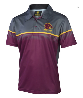 Brisbane Broncos NRL 2017 Classic Sublimated Polo Shirt Size S-5XL! In Stock!