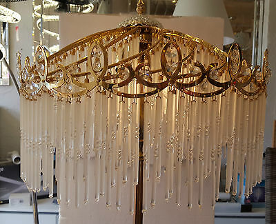 Vintage Crystal Floor Lamp