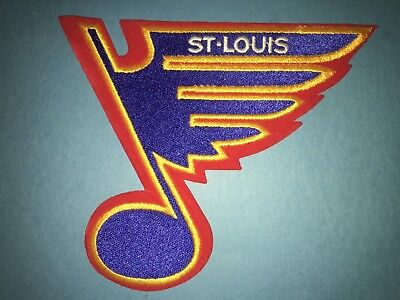 Rare Brett Hull Era St. Louis Blues Hockey Jersey Front Hipster Jacket Patch A