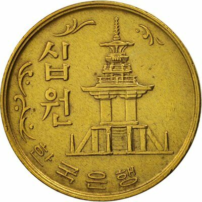 [#79868] KOREA-SOUTH, 10 Won, 1971, AU(50-53), Brass, KM:6a