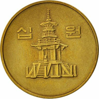 [#79877] KOREA-SOUTH, 10 Won, 1986, AU(50-53), Brass, KM:33.1