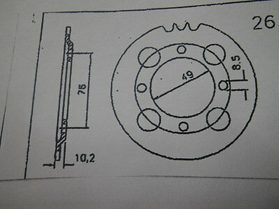 Sprocket Hercules 33 Z K 50 from 1963 F&S Full Hub HS 115v with floating axle