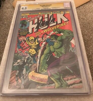 The Incredible Hulk #181 4.5 SS Stan Lee Signature 1st Full App Wolverine CGC