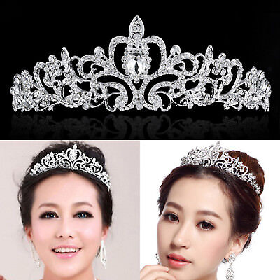 Bling Wedding Bridal Princess Crystal Rhinestone Prom Hair Tiara Crown Headband