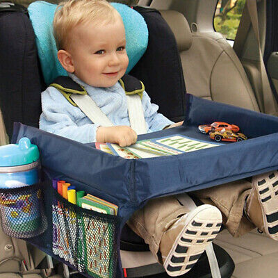 UK Safety Waterproof Snack Baby Car Seat Table Kids Play Travel Tray 3 Colours
