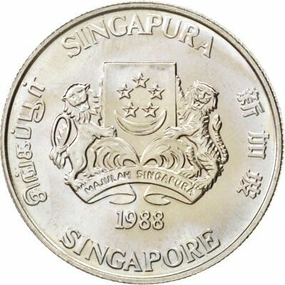 [#89304] SINGAPORE, 20 Cents, 1988, British Royal Mint, KM #52, MS(63)