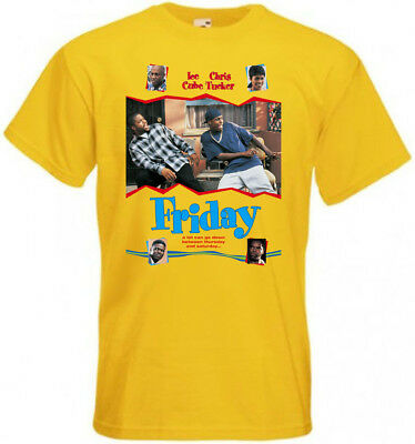 Friday T-shirt yellow movie poster all sizes S...5XL ver.3