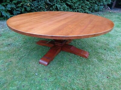 """HUGE 6ft 6"""" ROUND SOLID CHERRY DINING TABLE"""