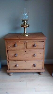 Antique victorian Pine Chest Of Drawers 2 over 2