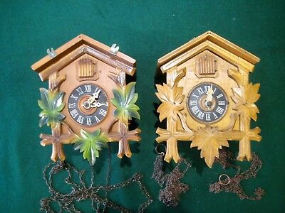 2 Vintage German Cuckoo Clocks for Restoration or Spares