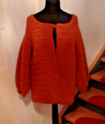 stylisch Cardigan Strickjacke Wolle  True VINTAGE  Bloggerstyle Oversize