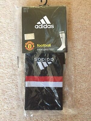 2017 - 2018 Manchester United Home Black Socks - Size 6.5-8 Official Merchandise