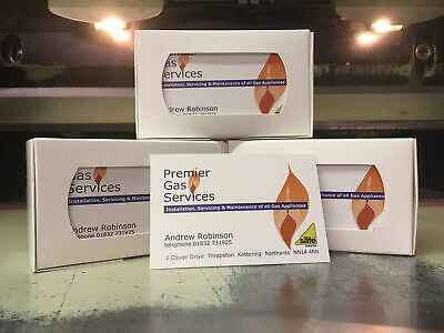 400gsm Full Colour Business Cards, FREE DELIVERY, SAME DAY SERVICE