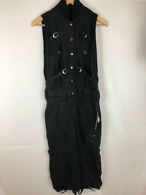 Diesel J Attie Women Black Jumpsuit XXSmall NWD Authentic Retail 378 USD