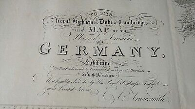 **RARITÄT** Map of the Physical Divisions of Germany. A.Arrowsmith. London 1812