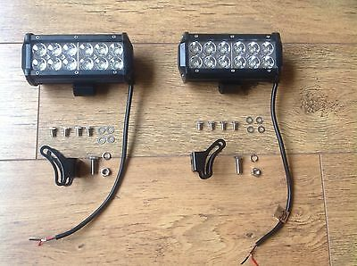 2 X CREE 36W Flood Light 12V 24V Worklight Offroad John Deere New Holland