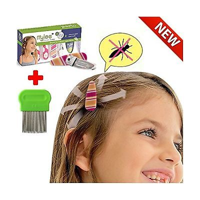 (Color B) Lice Prevention head Clips, Nit Treatment + Comb, Patented Organic ...