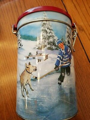 TIM HORTONS SKATING POND Canister Coffee Tin Limited Edition #003 Collectible