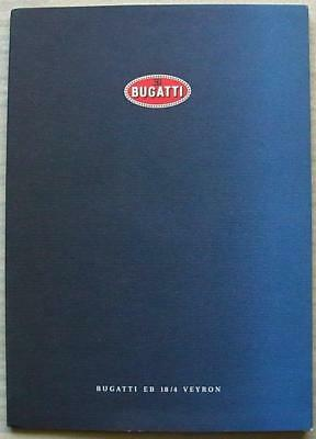 BUGATTI EB 18/4 VEYRON Car Press Media Pack Photos FRENCH TEXT c2000