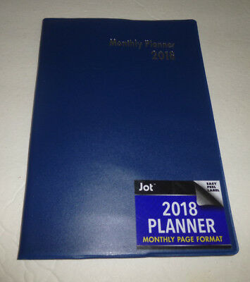 """Jot 2018 Monthly Planner - Navy Blue - Approx. 5"""" x 7"""" - Brand New!!"""