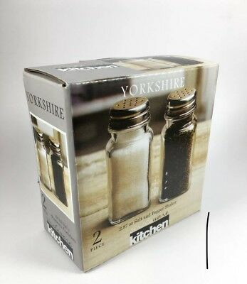 Circleware Yorkshire 2.87 oz Salt & Pepper Shaker Set - New in Box