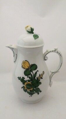 Furstenberg - Germany / Bavaria - Karoline Large Coffee Pot With Flower Finial