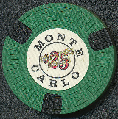Monte Carlo Reno $25 Green Large Key Chip overstamped with NCV  1975