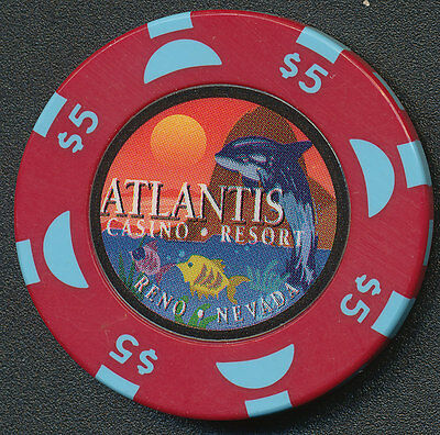 Atlantis Casino Reno $5 Chip - 1999 with BJ
