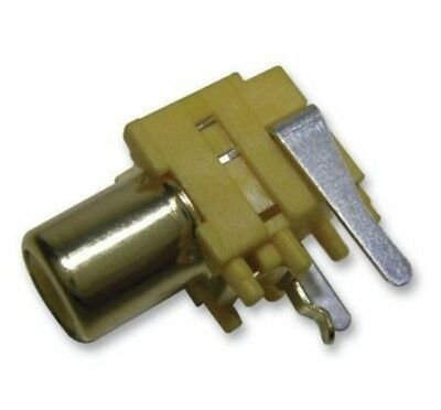 RCA Phone Female Socket PCB Mount Gold/Yellow Female Connector Adapter (2 Pack)