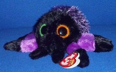 """TY BEANIE BOOS - CREEPER the 6"""" HALLOWEEN SPIDER with MINT TAG - PLEASE READ"""