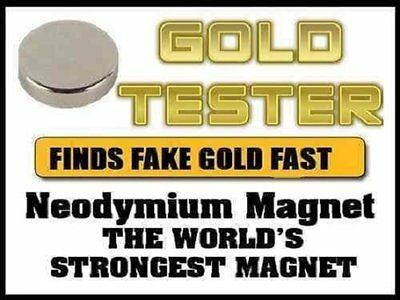 Neodymium Rare Earth Magnet for Testing Scrap Gold, -10mm great kit VERY STRONG