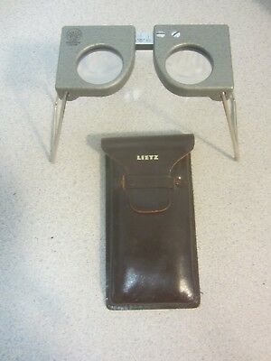 Leica Folding Stereo Viewer for Maps stereo graphs and stereo cards w/ case
