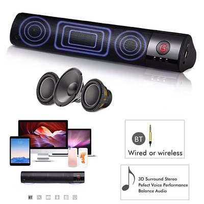 FM Tragbare Bluetooth Lautsprecher Wireless Stereo Laut Super Bass Sound Aux USB